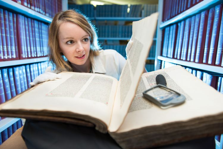 Exeter Library's Special Collections 'White Glove' Experience